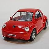 Kinsmart Red VW Volkswagen New Beetle 1/32 Diecast Car