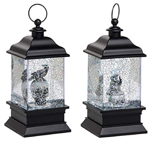 Transpac Imports, Inc. Light Up Water Lantern Spooky Black 9 x 4 Acrylic Halloween Snow -