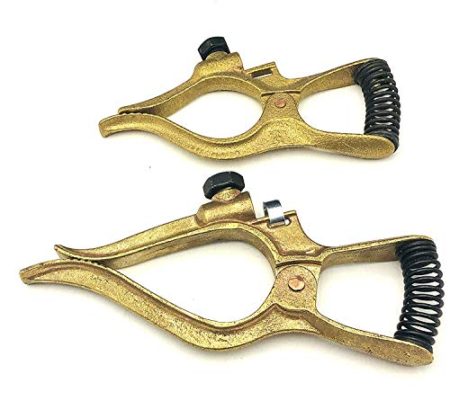 KINGQ Welding Ground Clamp, Tweco, 300-Amp, Brass