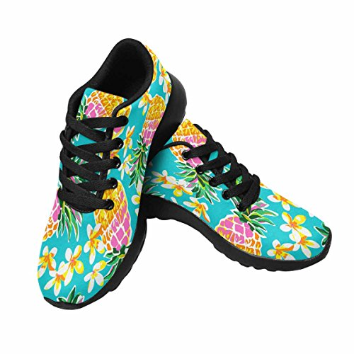 Interestprint Kvinna Trail Löparskor Jogging Lätta Sport Gå Atletiska Sneakers Söta Ananas Print Multi 1