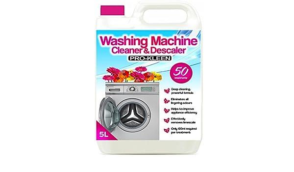 Limpiador y descalcificador de lavadora Pro-Kleen 5L, elimina los ...