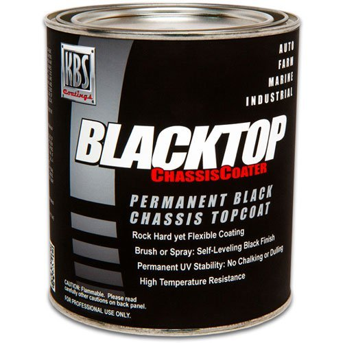 KBS Coatings 8412 Flat Black BlackTop Chassis Paint - 1 Quart by KBS Coatings (Image #1)