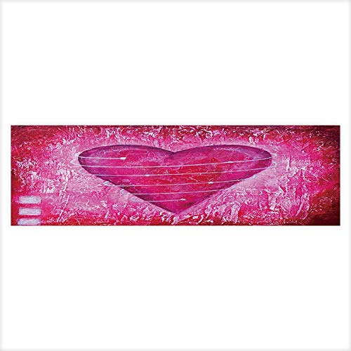 (Auraisehome Fish Tank Poster Aquarium Background Backdrop PVC Adhesive Painted Pink Heart with Spiral,Artwork is Created and Painted by Myself Sticker Wallpaper Fish Tank)