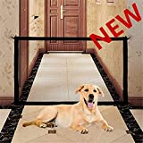 Retractable Pet Gate,Magic Gate Portable Folding Safe Guard Install Anywhere for Pet Safe,Pet Isolation Fence Net (39.4IN)