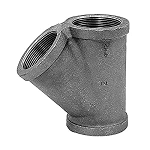Wye 3 4 In Npt Black Malleable Iron Pipe Fittings