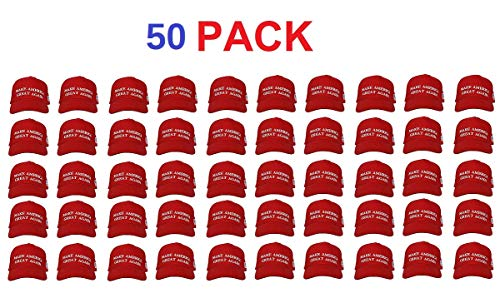 (Make America Great Again Hat [50 Pack], Donald Trump USA MAGA Cap Adjustable Baseball Hat)