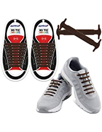No Tie Shoelaces for Kids and Adults - Best in Sports Fan Shoelaces - Waterproof Silicone Flat Elastic Athletic...