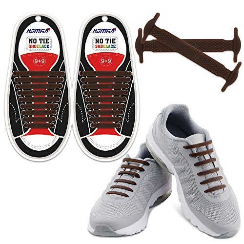 HOMAR No Tie Shoelaces Turn Your Shoes into Slip-on - Best in Sports & Fitness - Waterproof Silicon Running Shoelaces...