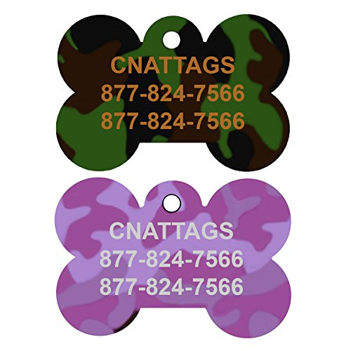 Dog Tags Pet Tags personalized | 11 Shapes | 8 Colors | by CNATTAGS
