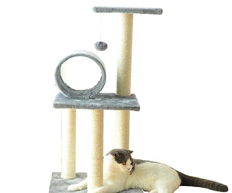 YUHAO Casa de árbol para Gatos, Torre para Gatos con Triple ...