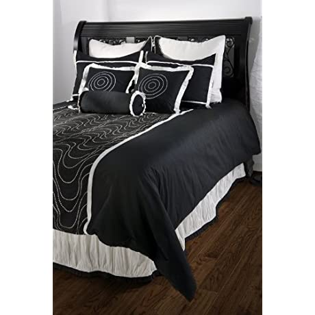 Rizzy Home BT 578Q Blackberry 9 Piece Comforter Set Queen