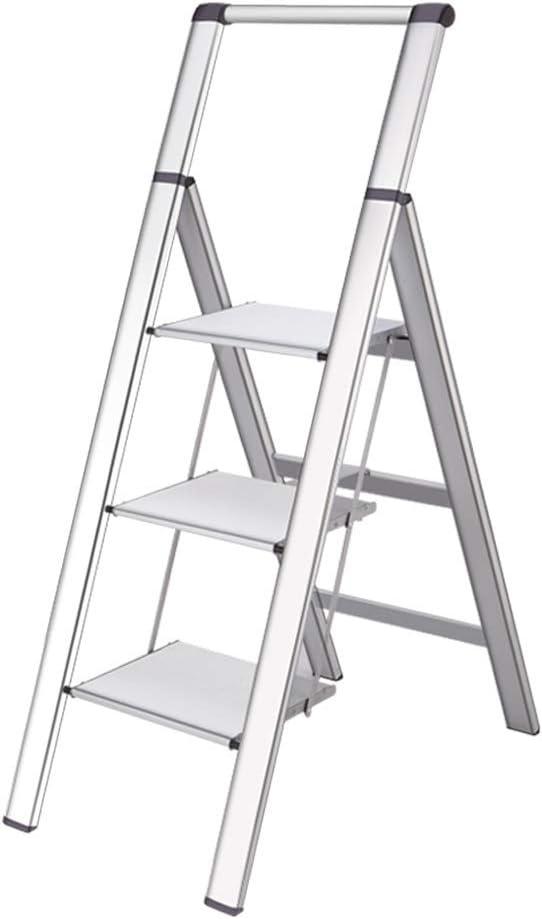 Escalera ZHAOSHUNLI móvil Pedal Plegable Acolchado Espiga Interior Aluminio Aleación Ingeniería móvil: Amazon.es: Hogar