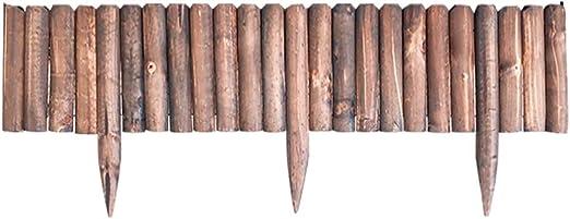 ZAQI Borduras Jardin Borde Cesped Valla Borde de jardín Rollo Sin excavación, Plantas de Madera Paisaje Edgers por Patio de Flores del árbol, 8/10/16/20 Pulgadas Altura: Amazon.es: Hogar