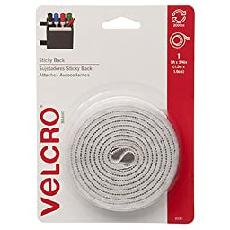 VELCRO Brand - Sticky Back - 5' x 3/4'' Tape - White