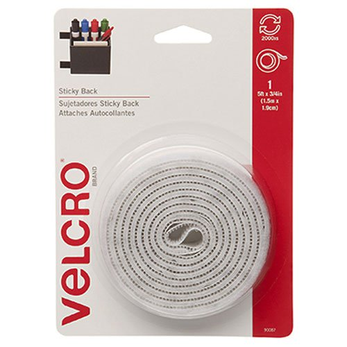 VELCRO Brand - Sticky Back - 5' x 3/4' Tape - White