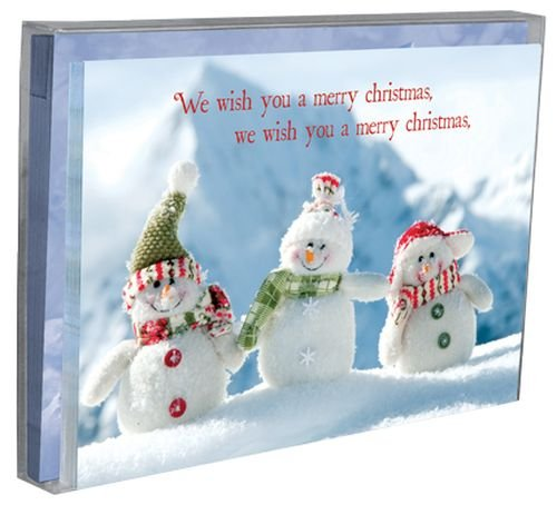 Tree-Free Greetings Christmas Wishes Holiday Boxed Cards, 5 x 7 Inches, 12 Cards and Envelopes per Set, Multi-Color (91160)
