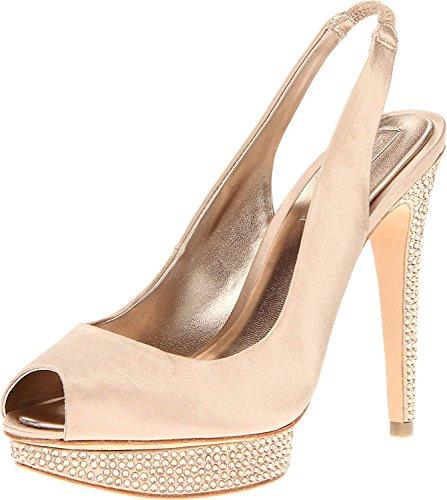 BCBGMAXAZRIA Women's MA-Falcon Platform Sandal,Champagne,10 M US (Bcbg Platforms)