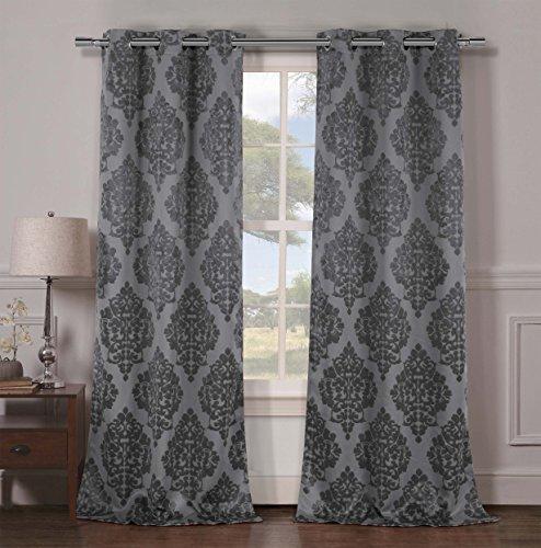 Kelvin Catalina Heavy Medallion Blackout Window Curtain 2 Panels, 36 x 96, (Catalina Panel Curtains)
