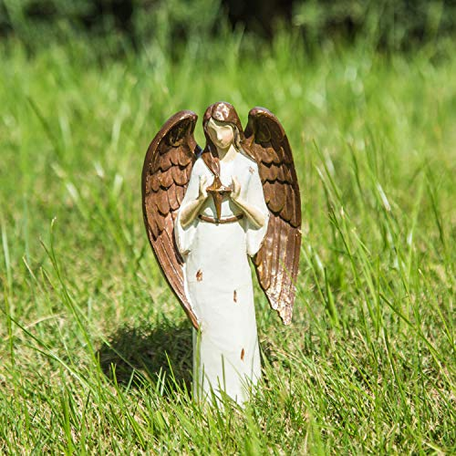 Goose Creek Angel Resin Statue Seasonal Figurine Ornaments Polystone Doll for Home and Outdoor Garden Decoration