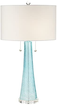 Possini Euro Miriam Aqua Blue Glass Table Lamp Amazon Com