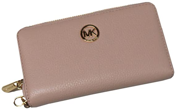 d28a69bc7fbc Michael Kors Fulton Large Flat Multi Function Leather Phone Case Ballet Pink