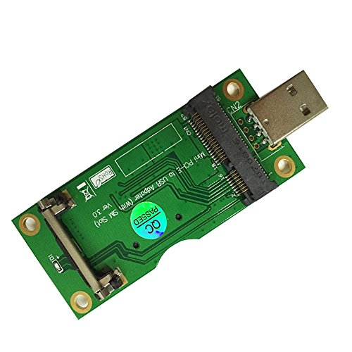 Oley Mini PCI-E to USB Adapter With SIM card Slot for WWAN/LTE Module Support SIM 6pin/8pin card connector