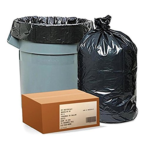 50 Large 55 Gallon Commercial Trash Can Bags Heavy Garbage Duty Yard, 1.5 Mil (Bin Vipp Liners)