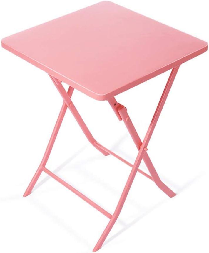 折りたたみ式テーブル調整可能な小さな正方形のテーブル/鉄の芸術錆コンピューターデスク/ホームデコレーションテーブル/ 55 * 55 * 71 CM回転することができます(色:緑)
