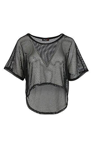Fashion Star - Camiseta - Manga corta - para mujer Negro