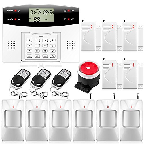 Fuers – G2 Kit Alarma Casa inalámbrica GSM/PSTN, IR infrarrojo Detector Movimiento de apertura de puerta/ventana, mando a distancia