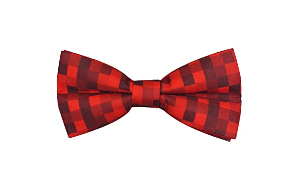 4e5cc567a1c1 Red Pixelated Ready To Wear Bow Tie for Men at Amazon Men's Clothing ...