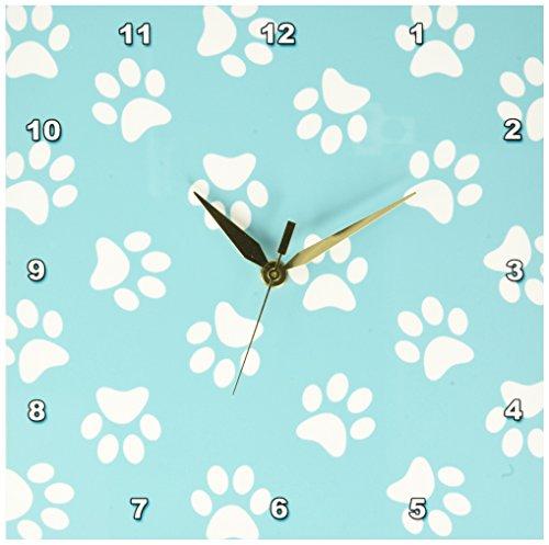 3dRose dpp 161531 1 Turquoise Pawprints Footprints