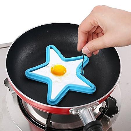 Silicona desayuno Pancake anillo de huevo frito Shaper dispositivo ...