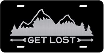 Get Lost Mountains Vanity Front License Plate Tag KCE334