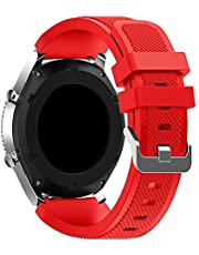 Sport Silicone Bands Straps Bracelet Watch Size 22mm for Huawei Watch GT1, Huawei Watch GT2 46mm, Galaxy S4 46mm, Samsung Active2 44mm, Honor Magic2 46mm,2725494438792