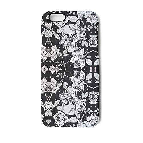 Yuwerw fgqq Skeleton Rose Skull Cool Unique Waterproof Cell Phone Cases for iPhone 6/iPhone 6s Protective Phone Cases Mobile Shell Case Cover iPhone Holder