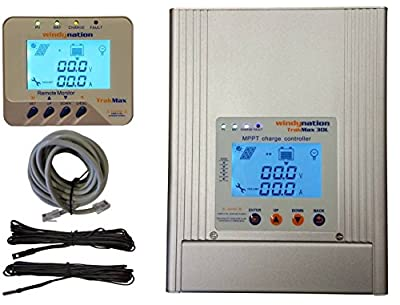 WindyNation TrakMax 30L LCD MPPT 30A Solar Charge Controller Battery Regulator 12 24 48 Volts