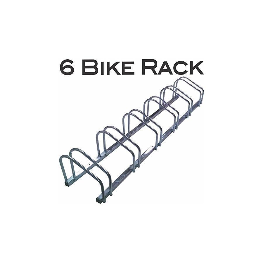 EasyGo Floor Stationary Six Bike Wheel Rack, Indoor – Outdoor Bike Stand