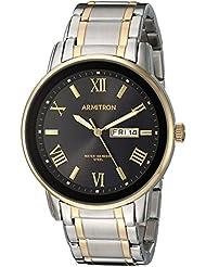 Armitron Mens 20/4935BKTT Day/Date Function Two-Tone Bracelet Watch