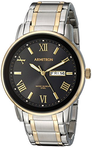 Armitron Men's 20/4935BKTT Day/Date Function Two-Tone Bracelet Watch