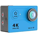 IPM 4K Waterproof 12MP Ultra HD Action Camera with Wi-Fi, 170deg. A+ HD Wide-Angle Lens, 1920x1080, 10fps, H.264, MPEG, Blue