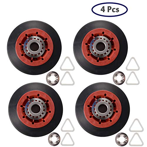 8536974 Dryer Drum Roller Fit For Whirlpool, Kenmore & Maytag - Replaces 8536974, 8536973, W10314171, WPW10314173, PS11752609 (Pack of 4)