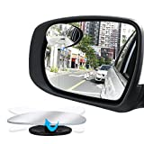#4: Manfiter Blind Spot Mirror,Oval Convex Lens HD Glass Adjustable for All Universal Vehicles Car Stick-on 2 Pcs