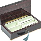 Bello Collezioni - Spello Luxury Mahogany Men's/Women's Jewelry Box from Italy.