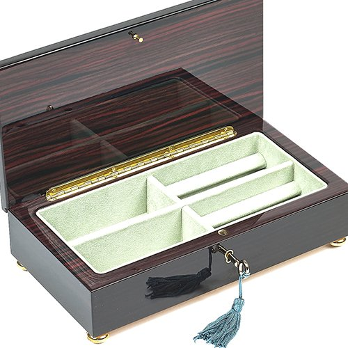 Bello Collezioni - Spello Luxury Mahogany Men's/Women's Jewelry Box from (Mahogany Reproduction Furniture)
