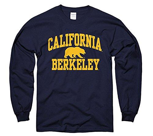 Men's UC Berkeley One Color California Berkeley With With Bear Long Sleeve S T-Shirt Navy