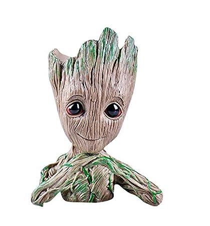 thematys® Baby Groot Maceta - Figura de acción para Plantas y bolígrafos de la película clásica - Perfecto como Regalo - Soy Groot (C)