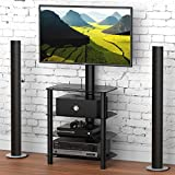 FITUEYES TV Entertainment Center Stand with Mount for 32-50 Flat Curved TV TW406001MB