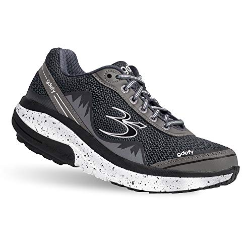 Gravity Defyer Proven Pain Relief Women's G-Defy Mighty Walk Gray Athletic Shoes 8.5 M US - Best Shoes for Heel Pain, Foot Pain and Plantar Fasciitis