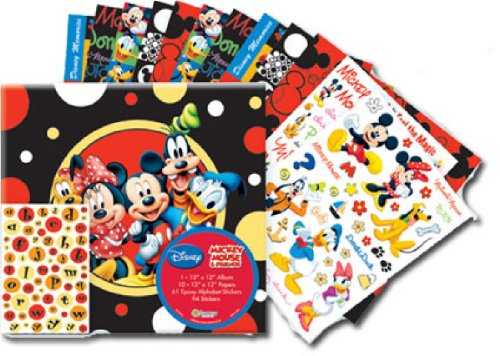 12-Inch Disney Mickey and Friends Scrapbook Album Kit (Disney World Scrapbook)